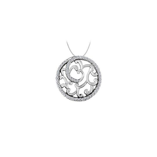 Preload https://img-static.tradesy.com/item/23335702/white-silver-cubic-zirconia-fancy-circle-fashion-pendant-in-sterling-050-ct-necklace-0-1-540-540.jpg