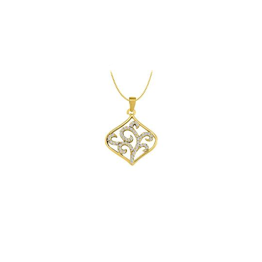 Preload https://img-static.tradesy.com/item/23335723/white-yellow-cubic-zirconia-square-shaped-pendant-in-gold-vermeilsilver-025-ct-tgw-necklace-0-0-540-540.jpg
