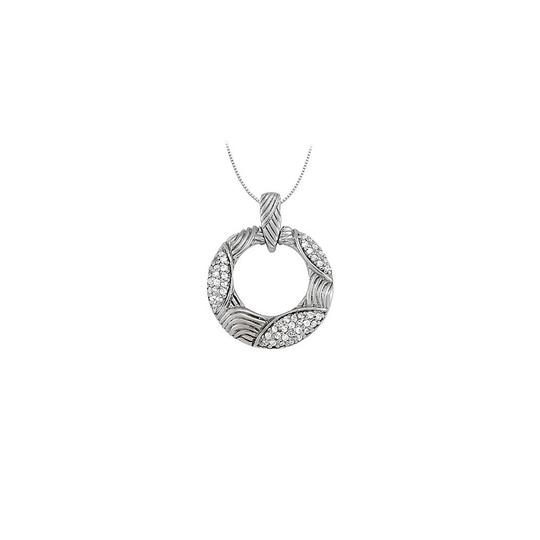 Preload https://img-static.tradesy.com/item/23335729/white-silver-cubic-zirconia-fancy-circle-fashion-pendant-in-sterling-025-ct-necklace-0-0-540-540.jpg