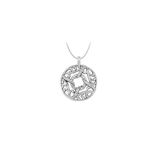 Preload https://img-static.tradesy.com/item/23335740/white-silver-025-carat-total-cubic-zirconia-in-sterling-fancy-circle-fashio-necklace-0-0-540-540.jpg