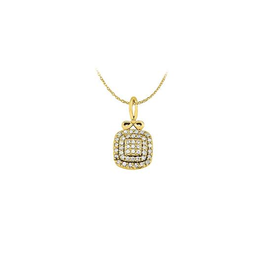 Preload https://img-static.tradesy.com/item/23335746/white-yellow-stunning-cubic-zirconia-square-pendant-in-18-gold-vermeil-wit-necklace-0-0-540-540.jpg