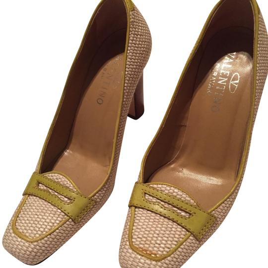 Valentino Beige and Green Pumps