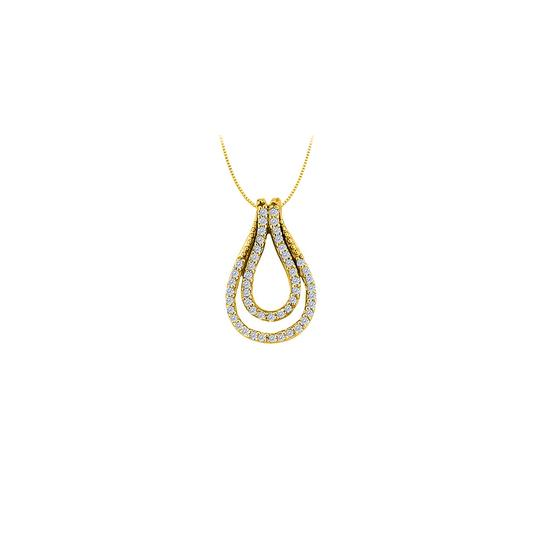 Preload https://img-static.tradesy.com/item/23335777/white-yellow-025-carat-double-teardrop-pendant-with-czs-gold-vermeilsilver-necklace-0-1-540-540.jpg