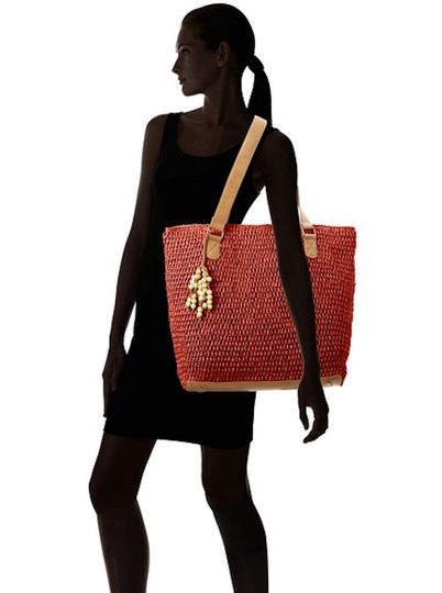 Straw Studios Beach Tote in NWT Red