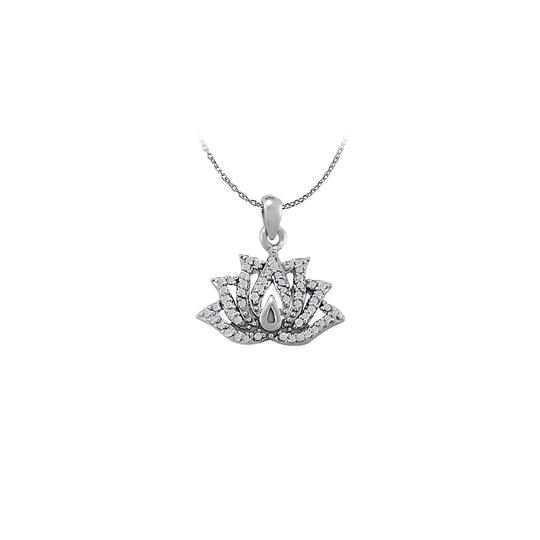 Preload https://img-static.tradesy.com/item/23335780/white-silver-designed-cubic-zirconia-lotus-pendant-in-925-sterling-silv-necklace-0-0-540-540.jpg