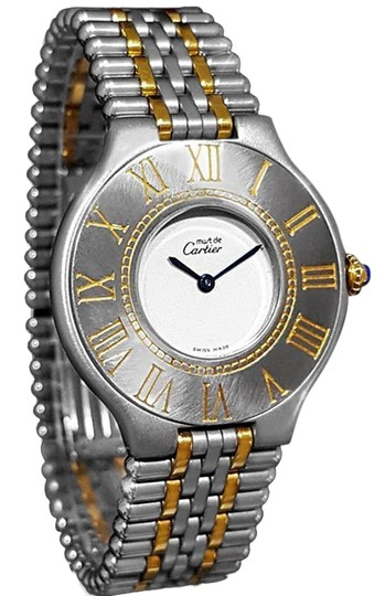Preload https://item1.tradesy.com/images/cartier-light-silver-cartier-must-de-21c-ladies-stainless-steel-and-18k-gold-watch-23335785-0-1.jpg?width=440&height=440