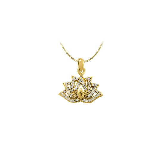 Preload https://item3.tradesy.com/images/white-yellow-cubic-zirconia-lotus-pendant-gold-vermeil-unique-set-with-free-necklace-23335792-0-0.jpg?width=440&height=440