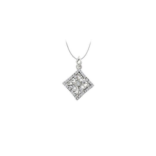 Preload https://img-static.tradesy.com/item/23335797/white-silver-cubic-zirconia-square-shaped-pendant-in-sterling-025-ct-tgwper-necklace-0-0-540-540.jpg