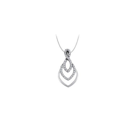 Preload https://item5.tradesy.com/images/white-silver-cubic-zirconia-fashion-pendant-in-925-sterling-025-ct-tgw-necklace-23335809-0-0.jpg?width=440&height=440