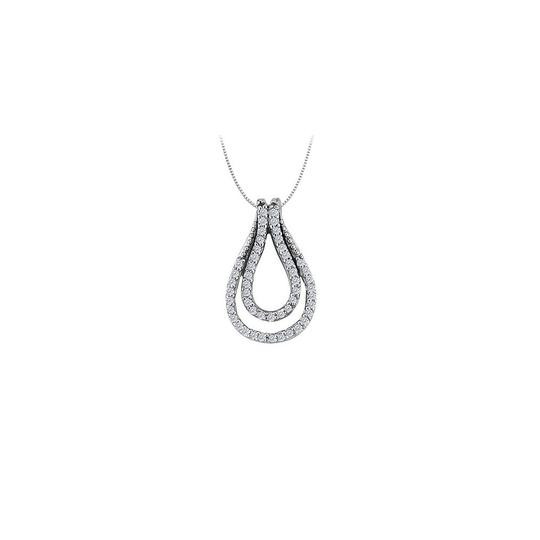Preload https://item1.tradesy.com/images/white-silver-025-carat-double-teardrop-pendant-with-cubic-zirconia-sterling-necklace-23335815-0-0.jpg?width=440&height=440