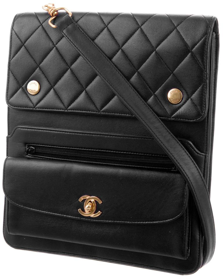 a262a657d4b4 Chanel Messenger Camera Vintage Cc Logo Quilted Classic Jumbo Flap Vertical  Black Lambskin Leather Shoulder Bag - Tradesy