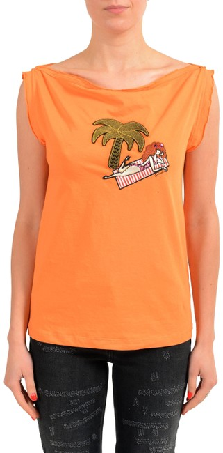 Preload https://item4.tradesy.com/images/just-cavalli-orange-v-11142-tee-shirt-size-4-s-23335903-0-1.jpg?width=400&height=650