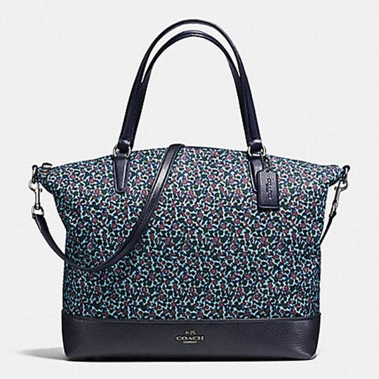 Coach Monogram Satchel 57902 Tote in blue multi
