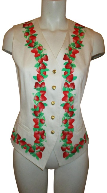 Preload https://item2.tradesy.com/images/escada-white-red-and-green-strawberry-print-vintage-margaretha-ley-vest-size-4-s-23335991-0-2.jpg?width=400&height=650