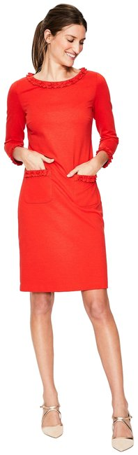 Preload https://item1.tradesy.com/images/boden-red-ponte-ruffle-short-workoffice-dress-size-14-l-23336025-0-3.jpg?width=400&height=650