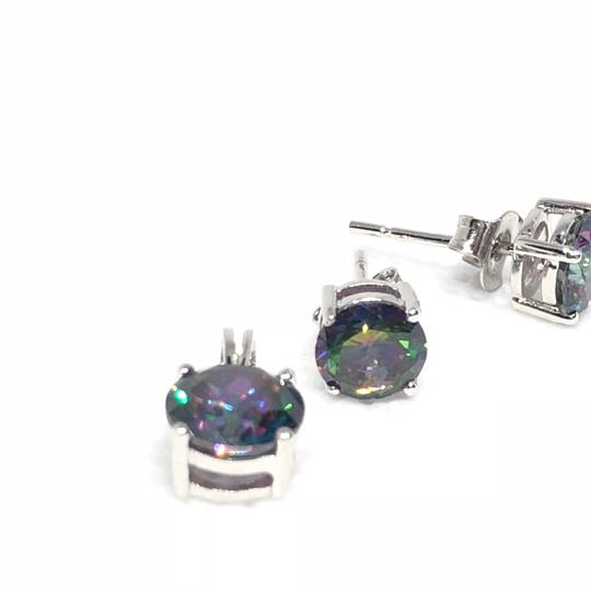 Sterling Silver Amethyst CZ Set With 16