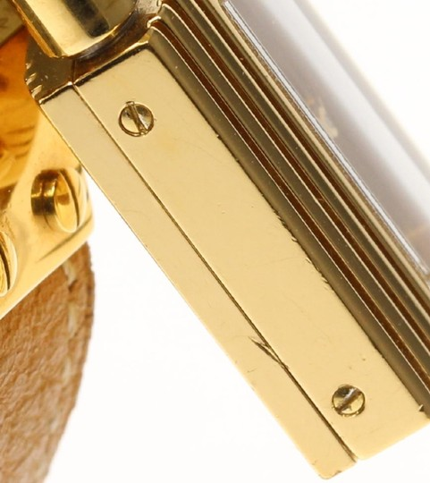 Hermès Hermes Brown Leather and Gold Kelly Watch