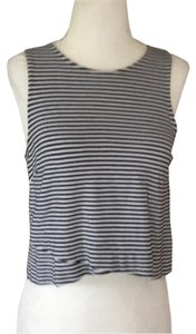 Banana Republic Top black and white striped