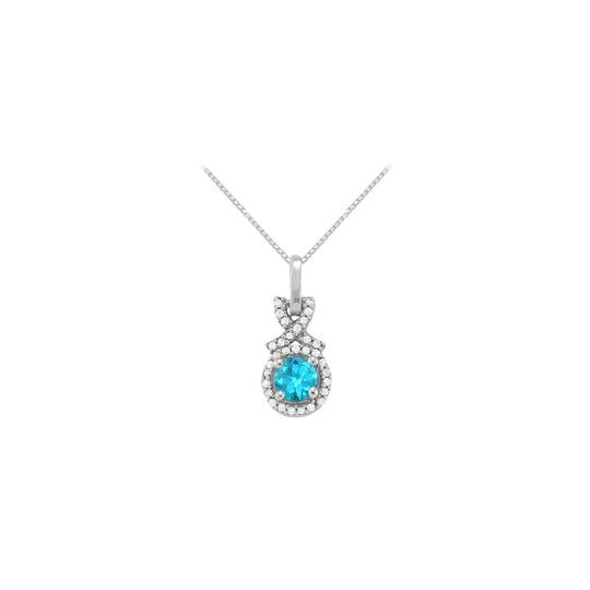 Preload https://img-static.tradesy.com/item/23336132/blue-silver-december-birthstone-topaz-with-cz-halo-pendant-in-sterling-necklace-0-0-540-540.jpg