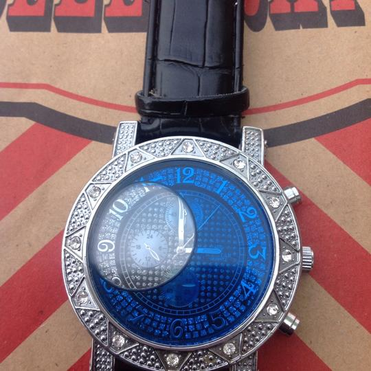 Icestar ice star blue water filled bling watch