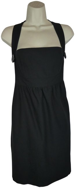 Laila Azhar Black Pockets Designer Euc Short Casual Dress Size 6 (S) Image 1