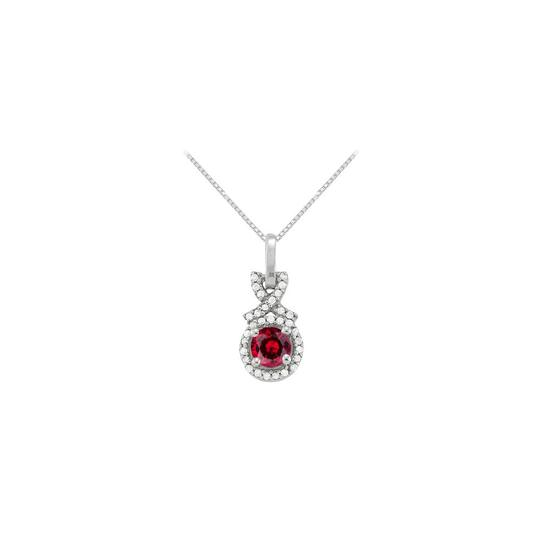 Preload https://item1.tradesy.com/images/red-silver-july-birthstone-ruby-with-cz-halo-pendant-in-sterling-necklace-23336165-0-0.jpg?width=440&height=440