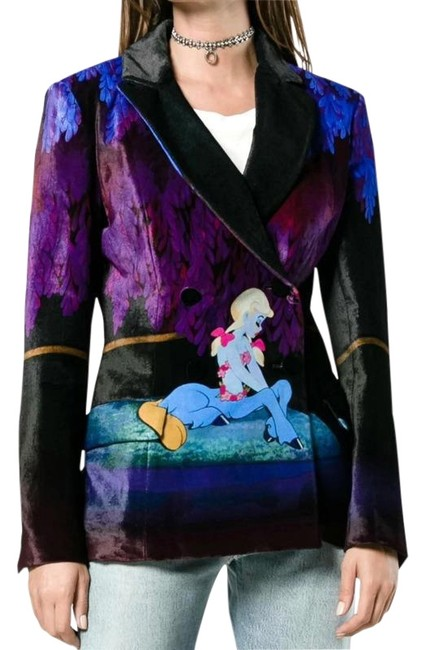Preload https://img-static.tradesy.com/item/23336166/mary-katrantzou-blue-centaur-jacket-blazer-size-12-l-0-2-650-650.jpg