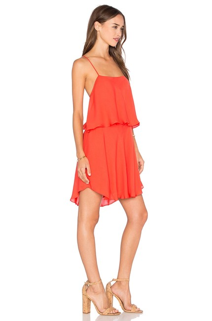Preload https://item5.tradesy.com/images/haute-hippie-peach-pop-silk-two-tiered-flutter-short-casual-dress-size-0-xs-23336174-0-0.jpg?width=400&height=650