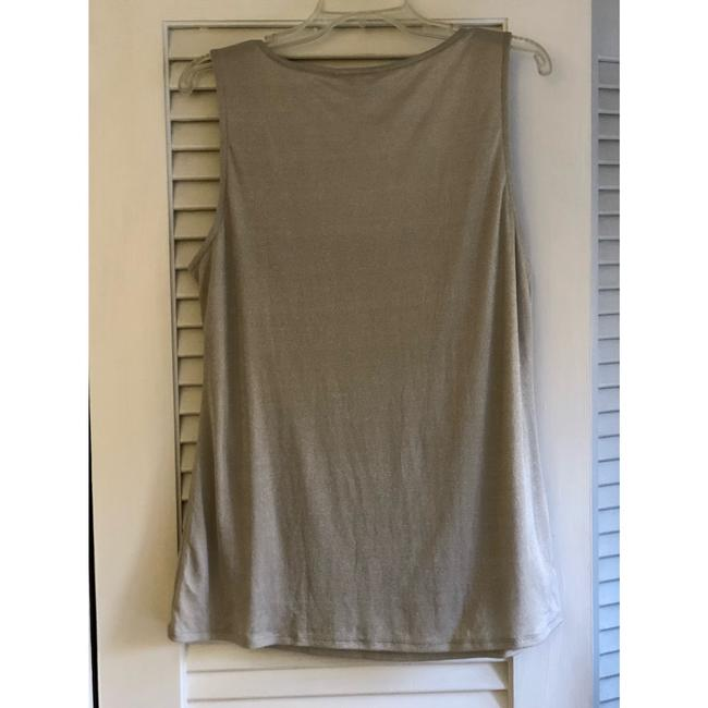 Banana Republic Top silver metallic Image 3