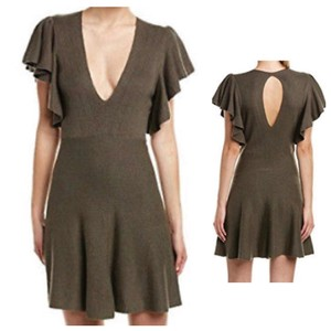 Free People short dress dark gray on Tradesy