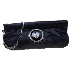 Gucci Satin Black Clutch
