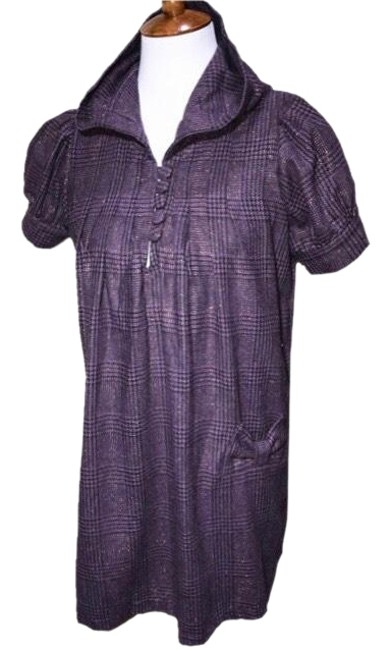 Preload https://item2.tradesy.com/images/romeo-and-juliet-couture-purple-plaid-pocket-shirtdress-short-casual-dress-size-12-l-23336271-0-1.jpg?width=400&height=650