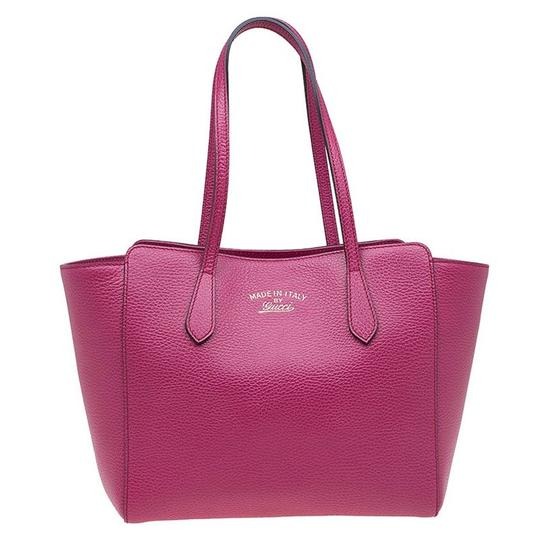 Preload https://img-static.tradesy.com/item/23336301/gucci-swing-fuchsia-small-pink-canvas-and-leather-tote-0-0-540-540.jpg