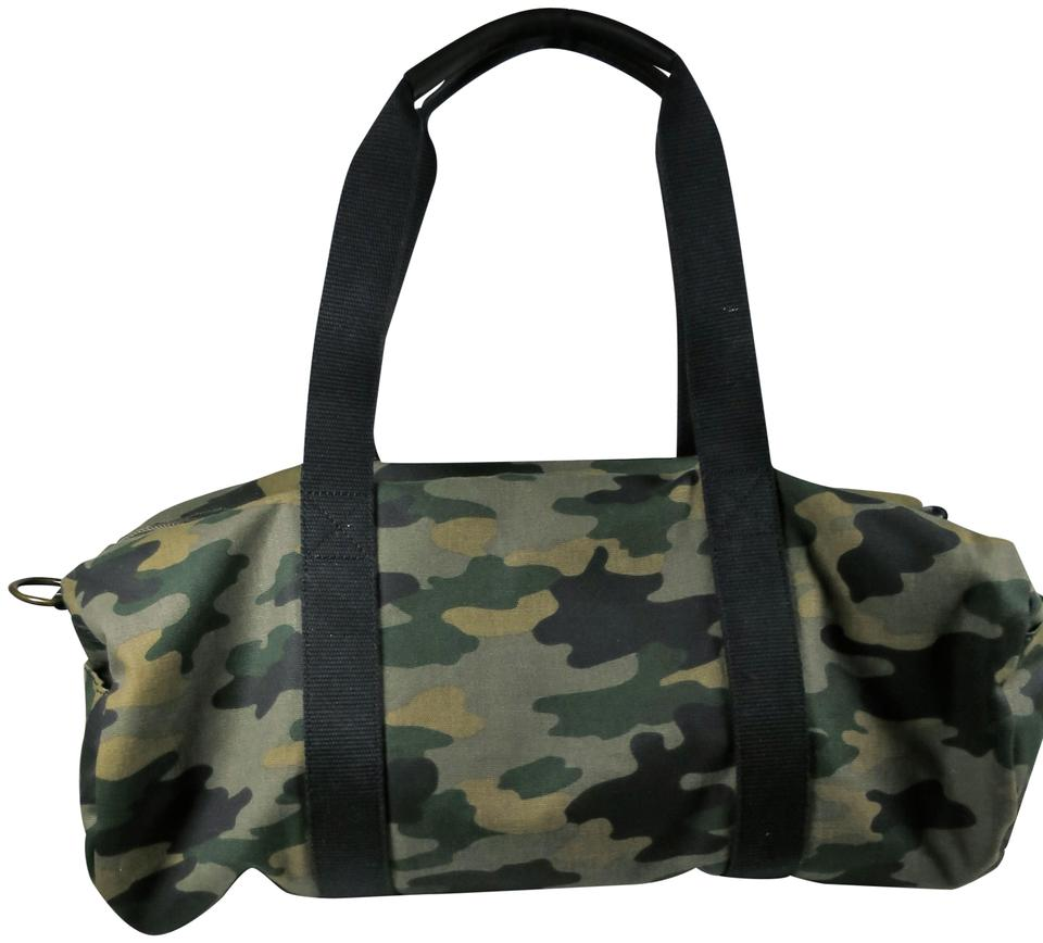 6857fe739e Lucky Brand Mens Duffle Green Army Waxed Canvas Weekend Travel Bag ...