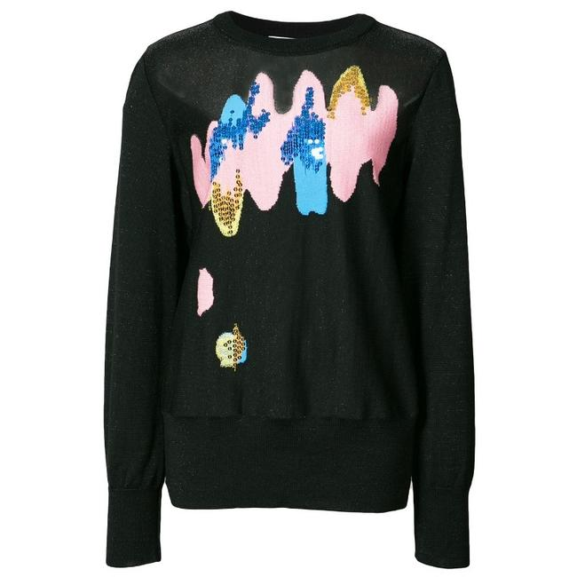 Preload https://item1.tradesy.com/images/tsumori-chisato-black-embroidered-knitted-sweaterpullover-size-12-l-23336315-0-0.jpg?width=400&height=650