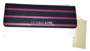 Michael Kors Michael Kors Florence Striped Saffiano Leather Wallet NWT