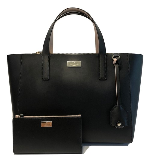 Preload https://item3.tradesy.com/images/kate-spade-new-york-putnam-drive-small-nelle-handbag-and-braylon-wallet-blackdolce-saffiano-leather--23336347-0-0.jpg?width=440&height=440