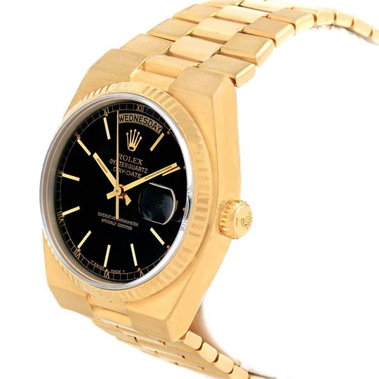 Rolex Rolex Oysterquartz President Day-Date Yellow Gold Black Dial Watch