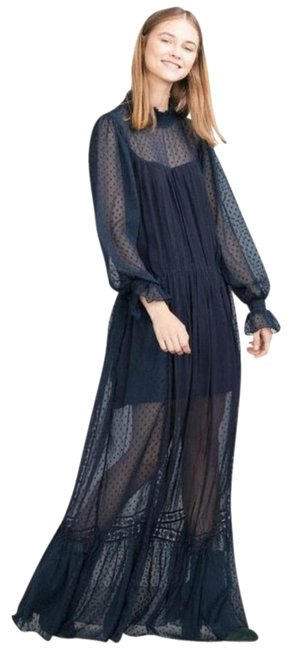 blue Maxi Dress by Zara Maxi Sheer Maxi Flowy