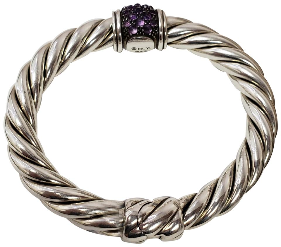David Yurman Nwt 10mm Osetra Center Station Amethyst Bracelet