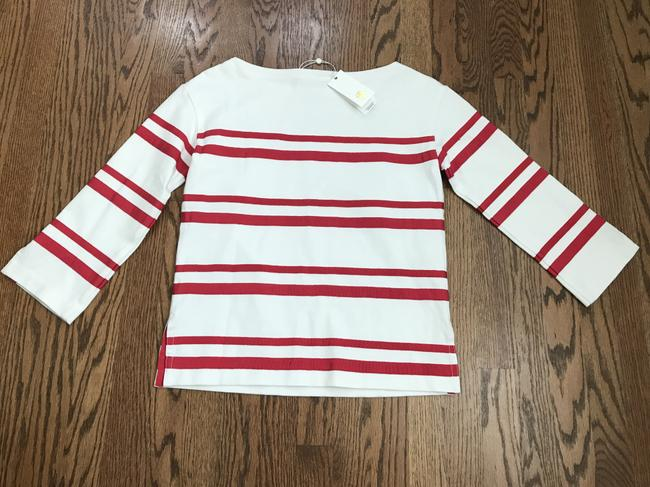 Tory Burch Top White/Red Image 2