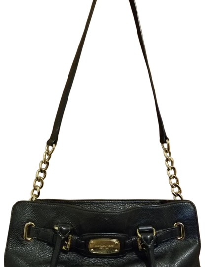 Preload https://img-static.tradesy.com/item/23336427/michael-kors-gold-black-leather-satchel-0-1-540-540.jpg