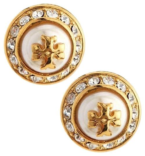 Preload https://item1.tradesy.com/images/tory-burch-ivory-gold-stud-pearl-round-rhinestone-new-tags-earrings-23336460-0-0.jpg?width=440&height=440