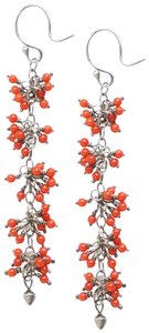 Me & Ro Sterling Silver Coral Cascade Earrings