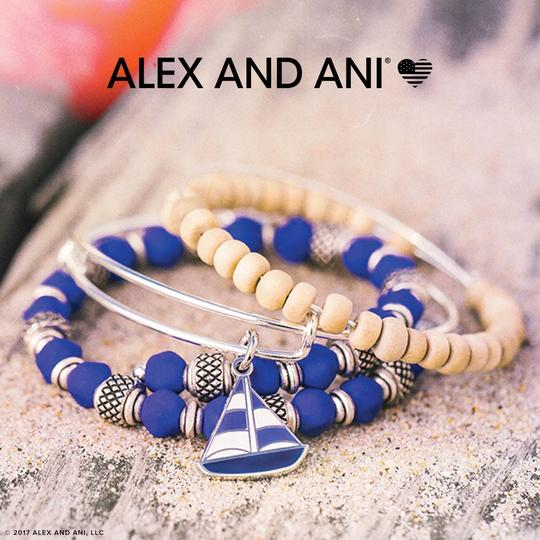 Alex and Ani Alex and Ani Wildberry Electric Expandable Wire Charm Bracelet