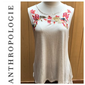 Anthropologie Top ivory/oatmeal color