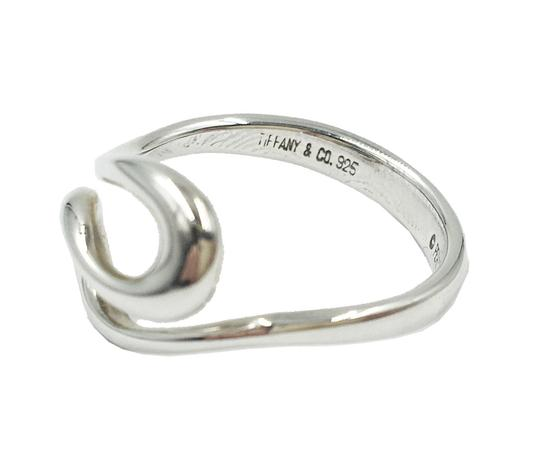 Tiffany & Co. ELSA PERATTI 925 Silver Open Wave Ring SIze 6