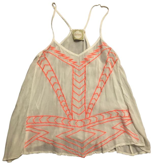 Preload https://img-static.tradesy.com/item/23336559/alythea-white-with-neon-pink-ikat-embroidered-too-tank-topcami-size-4-s-0-1-650-650.jpg