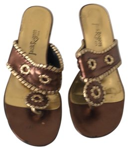Jack Rogers Bronze and Gold Sandals