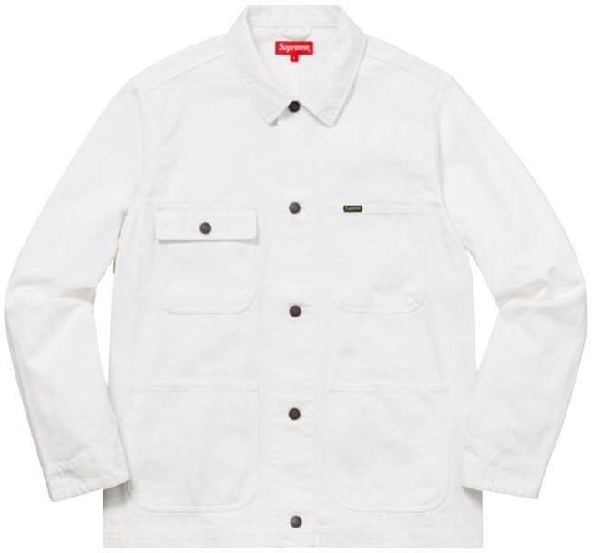 Preload https://item3.tradesy.com/images/supreme-white-ny-tapestry-chore-coat-jacket-size-12-l-23336602-0-1.jpg?width=400&height=650